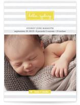 Striped Hello Birth Announcement Postcards