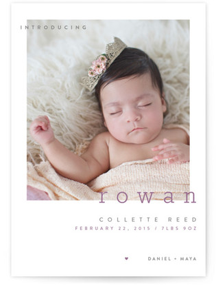 Innocent Birth Announcement Postcards