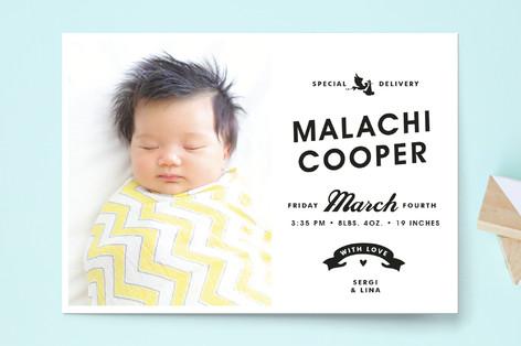 Vintage Label Birth Announcement Postcards