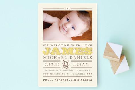 Wild West Baby Birth Annoucement Postcards