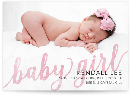 Been Blessed Birth Announcement Postcards