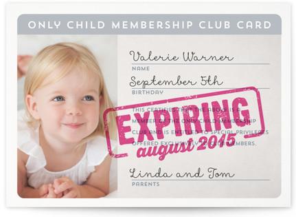 Membership Expiring Soon Birth Announcement Postcards