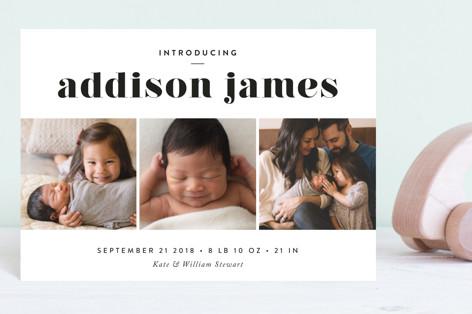 Avenue Birth Announcement Postcards