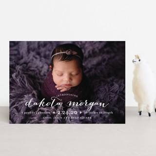 chic baby Birth Announcement Postcards