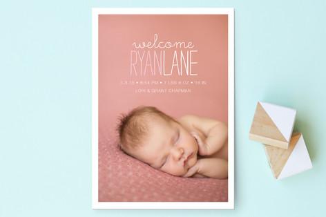 Devon Birth Annoucement Postcards