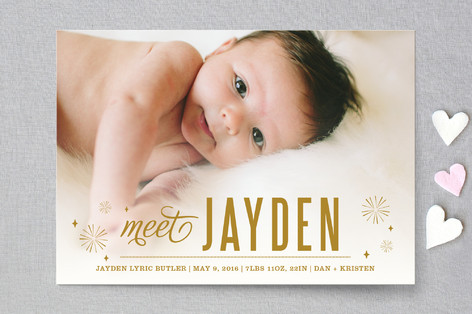 Bursting with Joy Birth Announcement Postcards