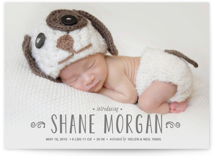 Adored Birth Announcement Postcards