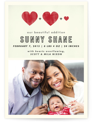 A Beautiful Addition Birth Announcement Postcards