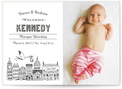 Vintage Storybook Birth Announcement Postcards