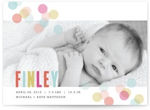Confetti Birth Announcement Postcards