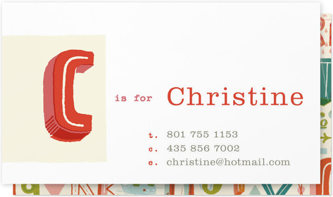 Letter Card Business Cards