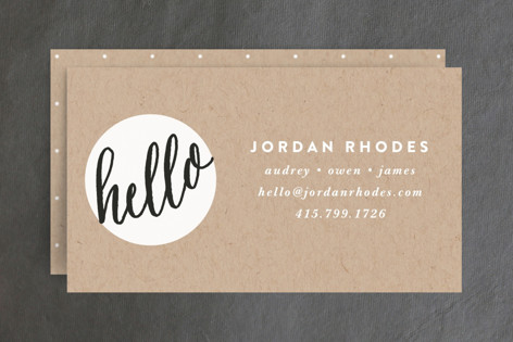 Hello New Friend Business Cards