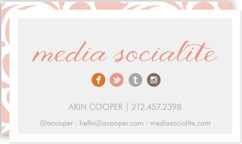 Media Socialite Business Cards