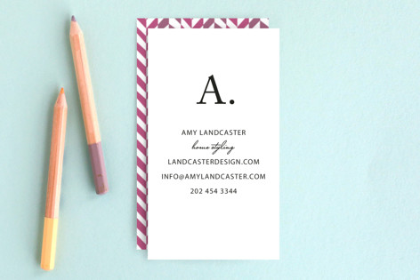 Initial then Period Business Cards
