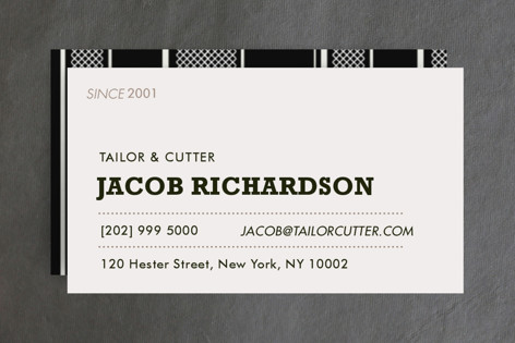 Sartorialist Business Cards