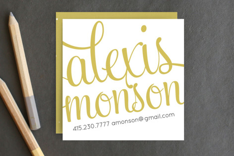 21st Century Girl Business Cards by June Letters S