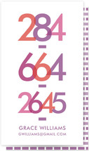 Bright Numbers by Avie Designs