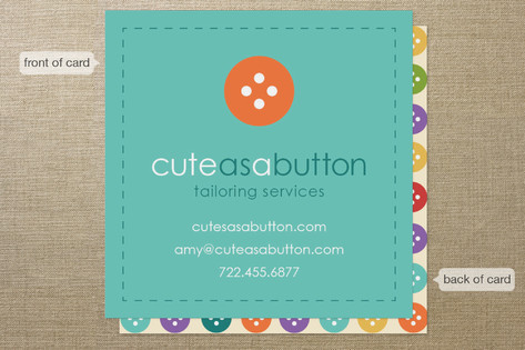 Cute as a Button Business Cards