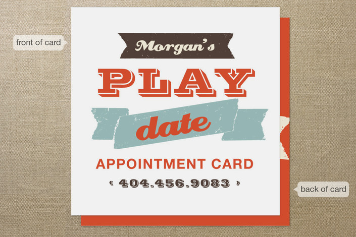 Let s Play Appointment Card Business Cards by chic