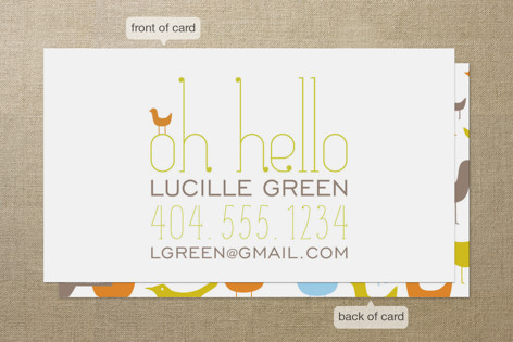 Oh Hello Birds Business Cards