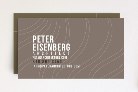 Organic + Geometric Business Cards