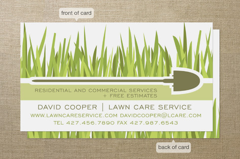 Blades of Grass Business Cards