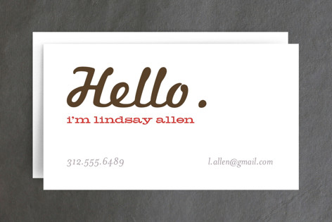 Call Me Business Cards