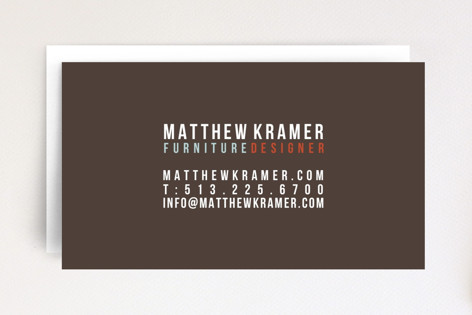 Furniture Designer Business Cards