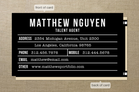 Just for Entertainment Business Cards