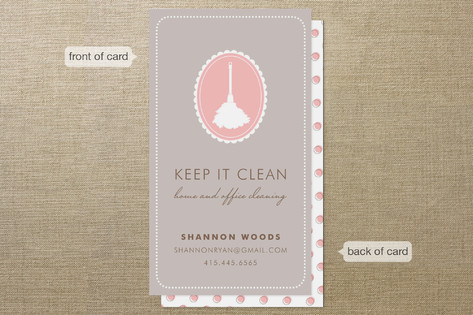 Keep It Clean Business Cards