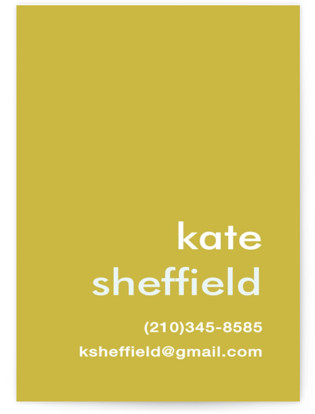 Mustard Stripe Business Cards