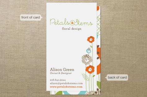Petals & Stems Business Cards