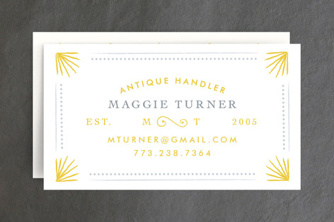 Chic & Antique Business Cards