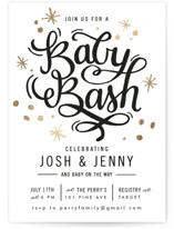 It's a Baby Bash Foil-Pressed Baby Shower Invitations