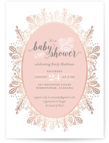 Whimsical Wreath Foil-Pressed Baby Shower Invitations