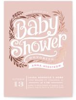 Show Poster Foil-Pressed Baby Shower Invitations