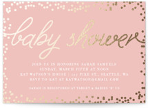Starlight Foil-Pressed Baby Shower Invitations