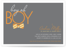 Bow Tie Boy Oh Boy Baby Shower Invitations