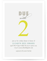 Two Baby Shower Invitations