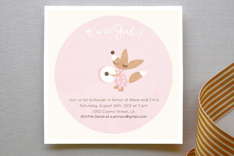 Drum Away Baby Shower Invitations