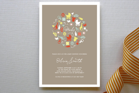 oh baby baby shower invitations by lina goldberg minted