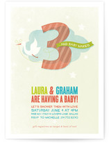 Three is the Magic Number Baby Shower Invitations