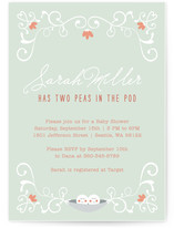 Baby Peas in a Pod Baby Shower Invitations