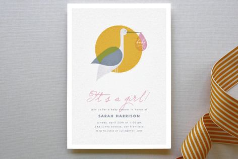 Via Stork Baby Shower Invitations