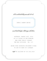 Ex Libris Baby Shower Invitations