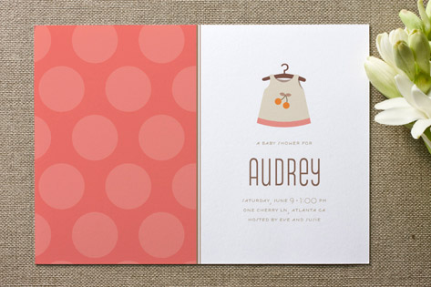 Cheery Frock Baby Shower Invitations