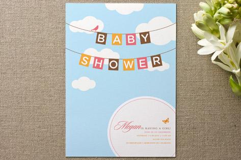 Blueskies Baby Shower Invitations