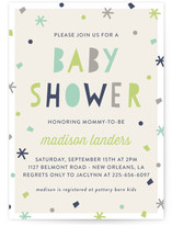 Sprinkled Confetti Baby Shower Invitations