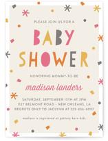 Sprinkled Confetti Baby Shower Invitations