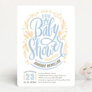 Painterly Script Baby Shower Invitations
